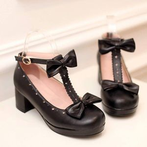 Vintage Baby Doll Chunky Heel Mary Jane Shoes